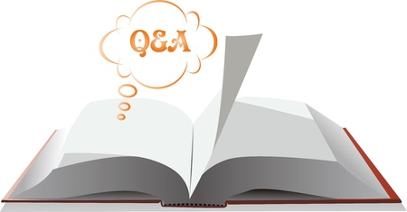 open books, questions and answers