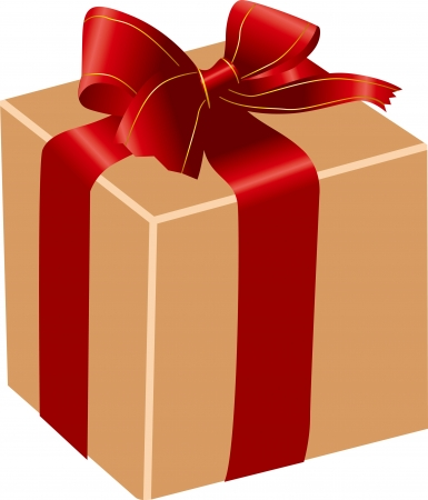 the gift box close Vector