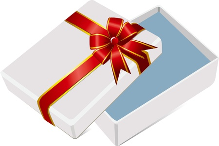 the gift box open Vector
