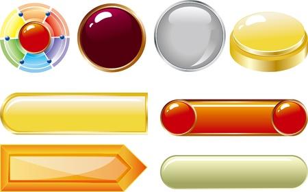 web buttons for website or app Illustration