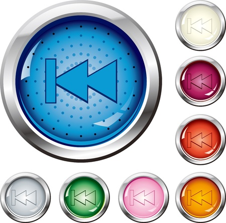 Multi-colored buttons - back to front Stock Vector - 16796629
