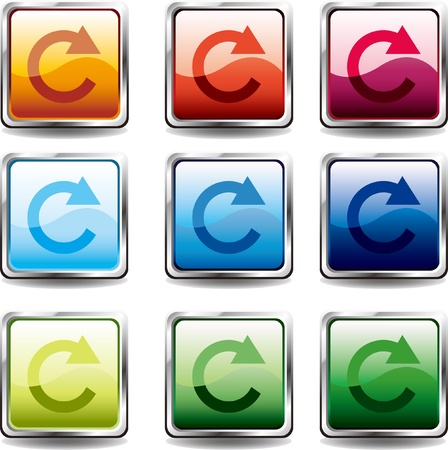glossy buttons. (Circular)   Illustration