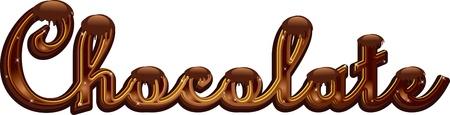 Chocolate word 8 Stock Vector - 16796594