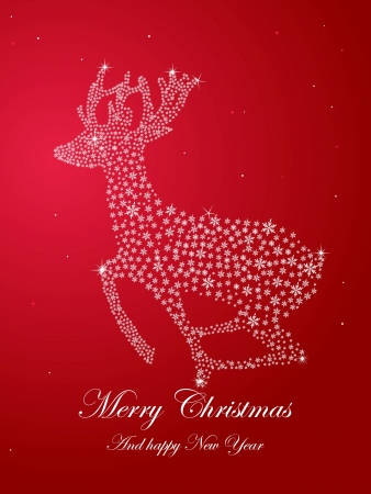 reindeer, Christmas cards Vector