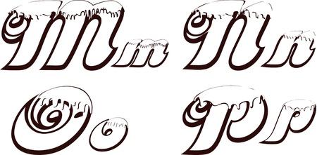 Chocolate word 5 Stock Vector - 16796591