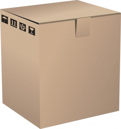 A Cardboard Box Stock Vector - 17090339
