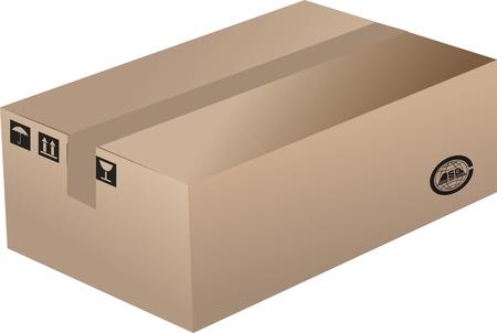 A Cardboard Box Stock Vector - 17090328