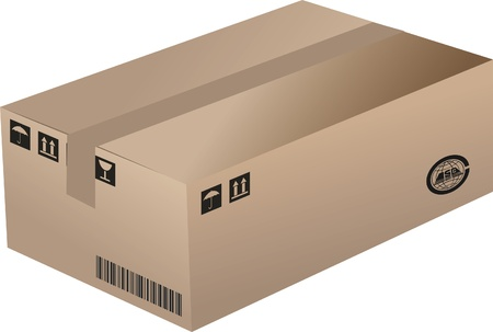 A Cardboard Box Stock Vector - 17090285