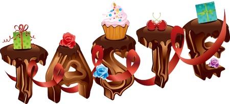 Chocolate word -- taste Stock Vector - 17110661