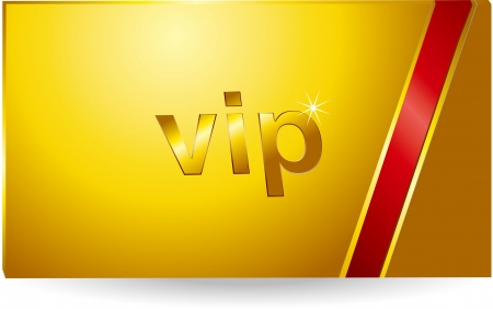VIP Gold Card Stock Vector - 17205522