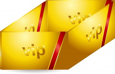 VIP Gold Card Stock Vector - 17205527