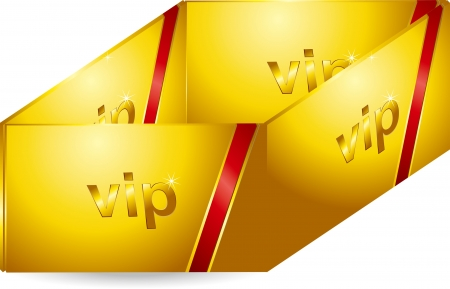 VIP Gold Card Stock Vector - 17205527