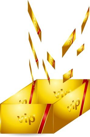 VIP Gold Card Stock Vector - 17205525