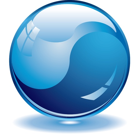 Blank blue web buttons for website or app.