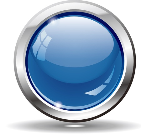 Blank blue web buttons for website or app