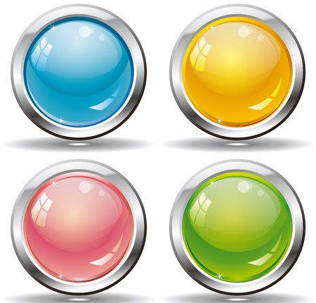 web buttons set for website or app   Stock Vector - 17401204