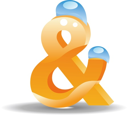 Symbol ampersand three-dimensional pattern, the network icon Stock Vector - 17694687