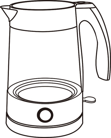 electric kettle isolated on white Stock Vector - 17694684