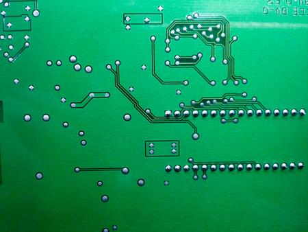 printed circuit: electronic printed circuit board (Green PCB)