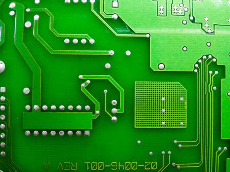printed: electronic printed circuit board (Green PCB)
