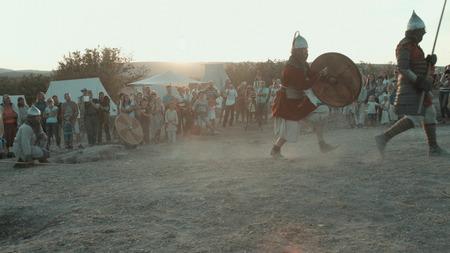 SEVASTOPOL, CRIMEA/RUSSIA SEPTEMBER 13, 2016: Crimean military historical festival on September, 13 in Sevastopol Redactioneel