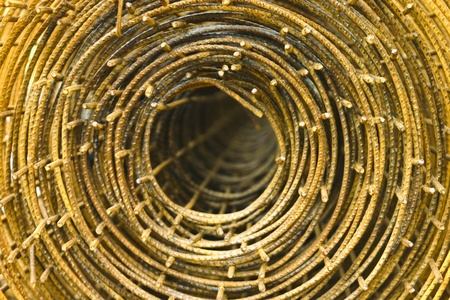 The shot of the roll of rust wire for construction. Stock Photo - 10606087