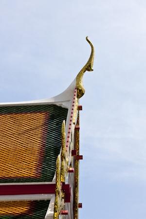 gable: Beautiful Buddihist Temple Gable. Stock Photo