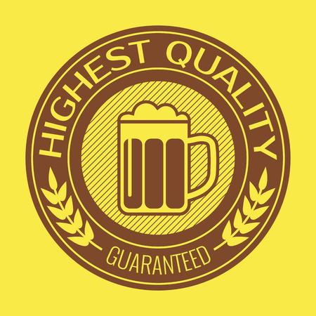 brew: Retro label for beer or brew. Vector illustration.