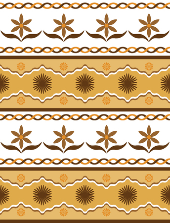 Seamless pattern with floral motif. Vector illustration.