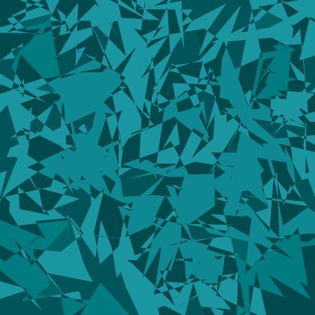 많은 조각 및 조각에서 추상 청록색 배경입니다. 벡터 일러스트 레이 션.