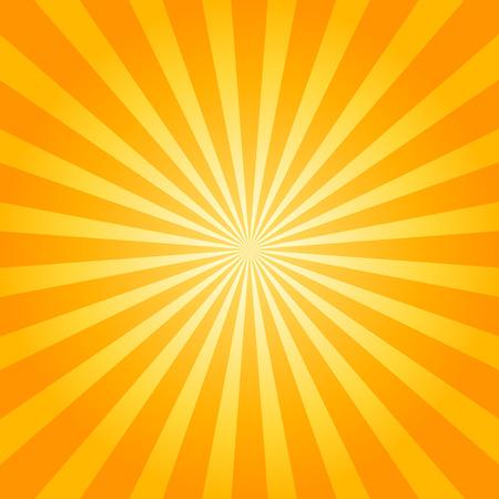 Sunburst orange background. Vector illustration.