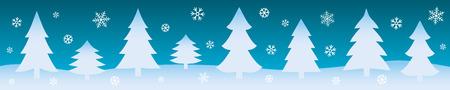 Winter background. Christmas web banner. Vector illustration. Illustration