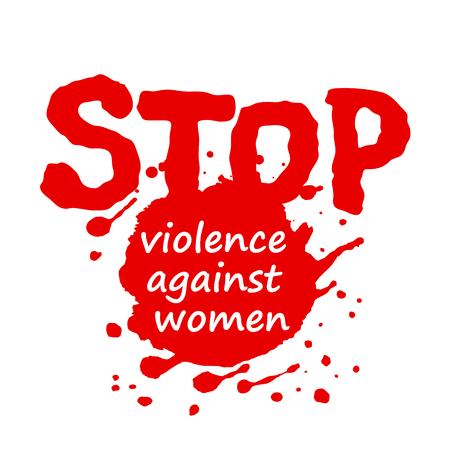 벡터 일러스트 레이 션 여성에 대 한 폭력의 제거에 대 한 국제 하루에 대 한 포스터 또는 배너 디자인.