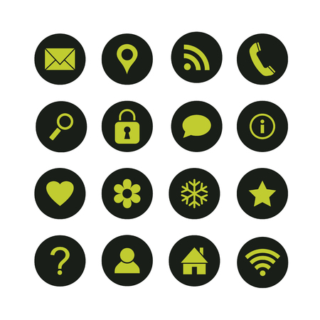 Set of media and communication vector icons