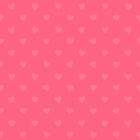 Seamless pattern with hearts. Romantic background. Vector illustration.