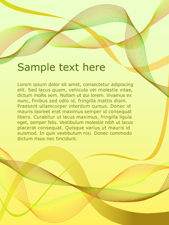 Vector letterhead with abstract waves