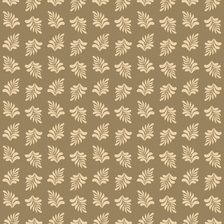 Beautiful seamless pattern with leaves for design of cards, textile, wrapping paper, etc. Vector illustration. 向量圖像