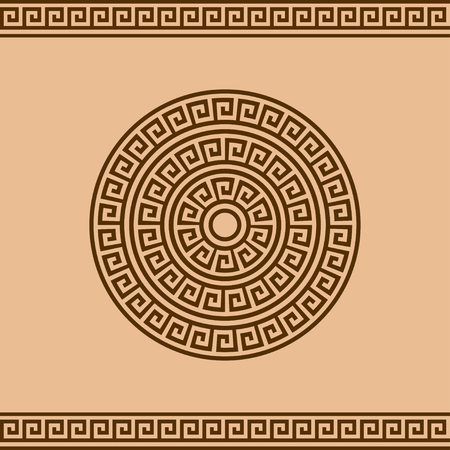 Greek rosette and border ornament for design