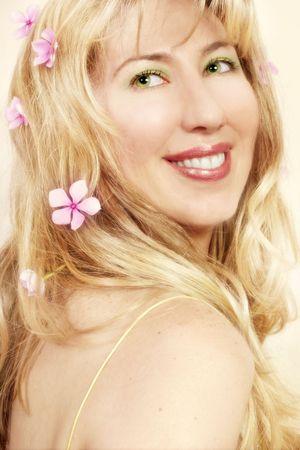 vivacious: Woman with vivacious smile