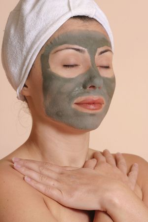 Peace & Purity -  Woman meditates during beauty regime