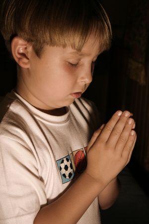 Boy praying Stock Photo - 221086