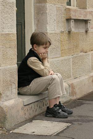 Entmutigter Junge