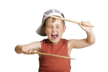 tambores: Peque�o muchacho del redoblante