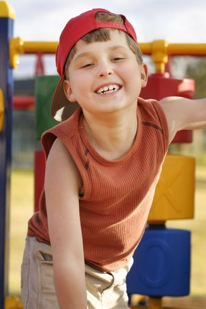 child on playground  photo