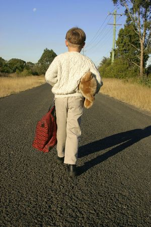 Boy packed and leaving home Stock Photo - 231331