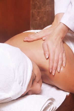 remedial: Woman receiving a massage