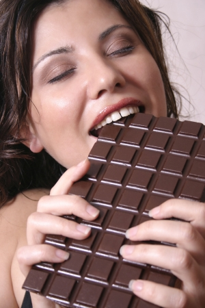crave: Satisfying a chocolate craving Stock Photo
