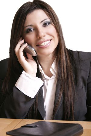 solicitor: Business woman on a phone call