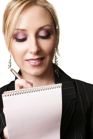 Writing a note, taking dictation, shopping list etc