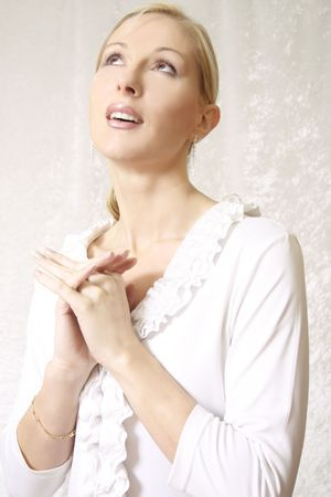 supplication: Pleading, hope, faith, awestruck,